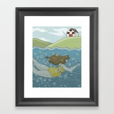 Morning Swim Framed Art Print