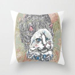 Meowrie Antoinette Throw Pillow
