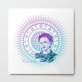 Frida Kahlo Feminist Bravery Metal Print