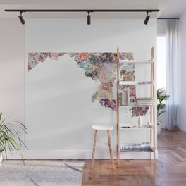 Maryland map Wall Mural