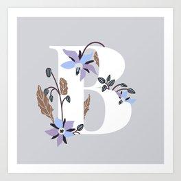 B for Borage Art Print