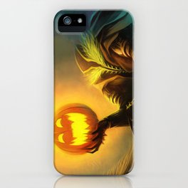 Headless Horseman: All Hallows' Eve Greetings iPhone Case