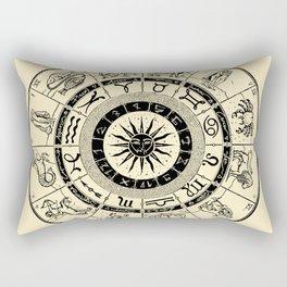 Hand Drawn Zodiac Map Rectangular Pillow