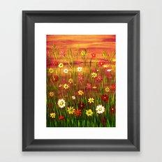 Flowers in the sunrise Framed Art Print