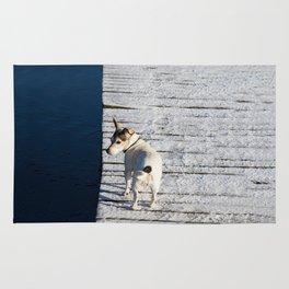 Dog going home Rug