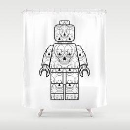 Skull-Brick Shower Curtain