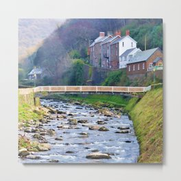 A portrait of Lynmouth Metal Print