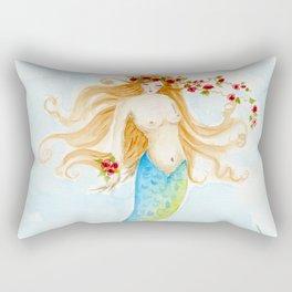 The Rose Mermaid Rectangular Pillow