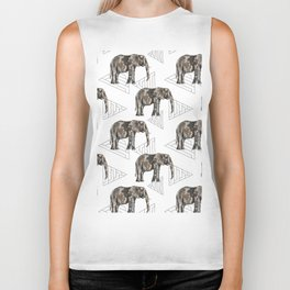 Boho elephant Biker Tank