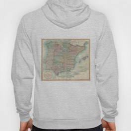 Vintage Map of Spain and Portugal (1801) Hoody