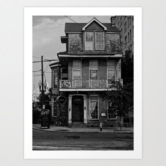 The house on the corner Art Print
