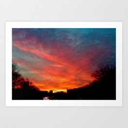Sunset Traffic Art Print