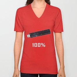 100% Unisex V-Neck