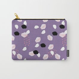 Hand painted ultra violet pink blue brushstrokes dots Carry-All Pouch