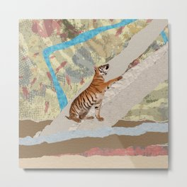 Tiger Cub - Mixed Media Digital art Metal Print