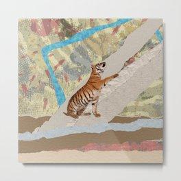 Tiger Cub - Mixed Media Digital art Metal Print