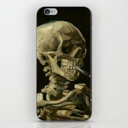 Vincent van Gogh - Skull of a Skeleton with Burning Cigarette iPhone Skin