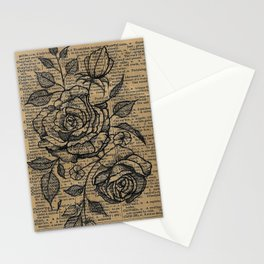 Antiqued Roses Stationery Cards