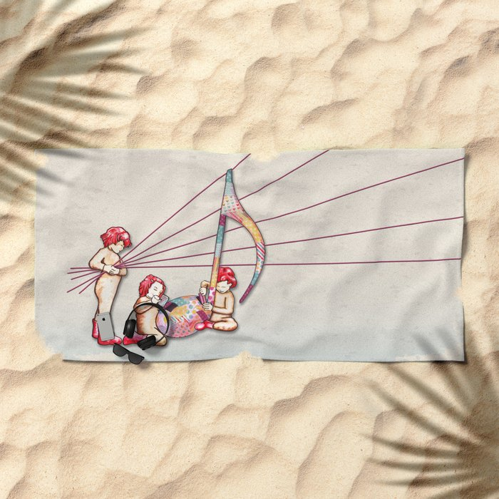 The Music Class - L'atelier de musique Beach Towel