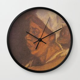 Vincent van Gogh - Head of a Peasant woman with white hood Wall Clock
