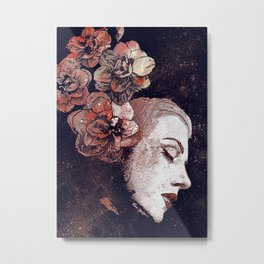 Obey Me: Blood (graffiti flower woman profile) Metal Print