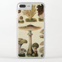 Edible Mushrooms Chart Clear iPhone Case