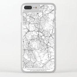 Canberra Map White Clear iPhone Case
