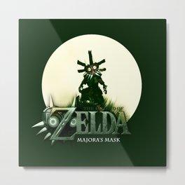 Zelda Mask Metal Print