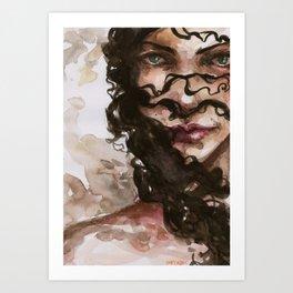 in her crimes Art Print