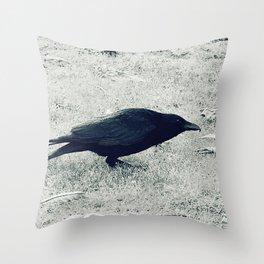dark crow Throw Pillow