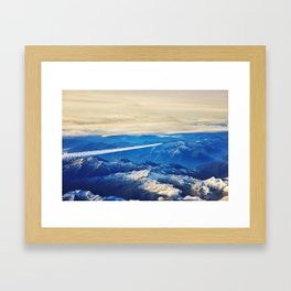 Airplane above the Clouds I Framed Art Print