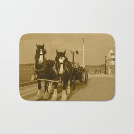Draft Horses and Carriage Bath Mat