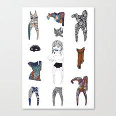 Paperdoll #2 Canvas Print