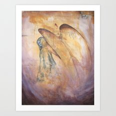 Angel of Death Painting Art Print