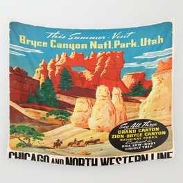 Vintage poster - Bryce Canyon Wall Tapestry