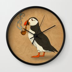 Puffin' Wall Clock
