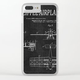 Eiffel Airplane Patent 2 Clear iPhone Case