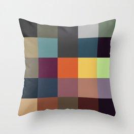 Pixel Patchwork Kappa Throw Pillow