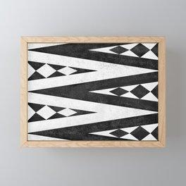 Tribal pattern in black and white. Framed Mini Art Print