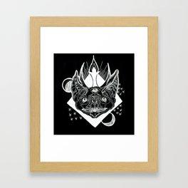 Batphomet (black) Framed Art Print