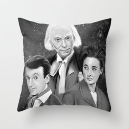 Classic Who Throw Pillow