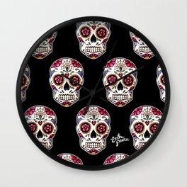 Sugar Skull - black Wall Clock