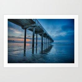 Scripps Pier at sunset Art Print