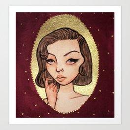Gold Girl Art Print