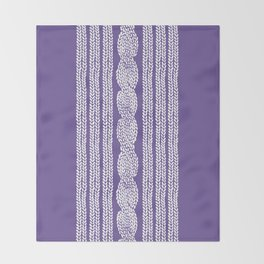 Cable Stripe Violet Throw Blanket