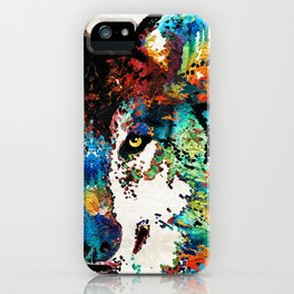 Wolf Art Print - Hungry - By Sharon Cummings iPhone Case