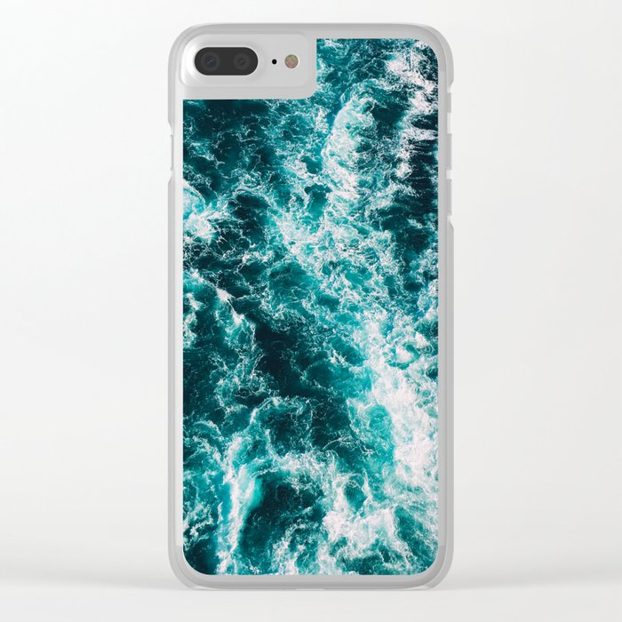 Deep Blue Waters Clear iPhone Case