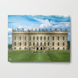 Chatsworth House Metal Print