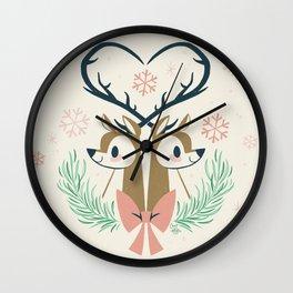 I Heart Christmas Wall Clock