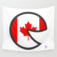 canada Wall Tapestries featuring Canada Smile by onejyoo